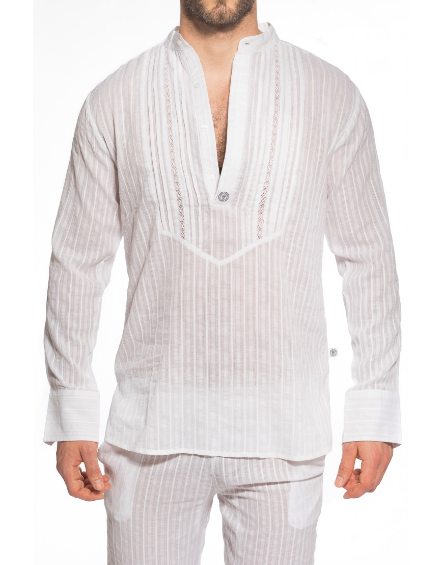 LHommeInvisible Hannover STEFANamMarstall barbados tunique homme coton blanc 2