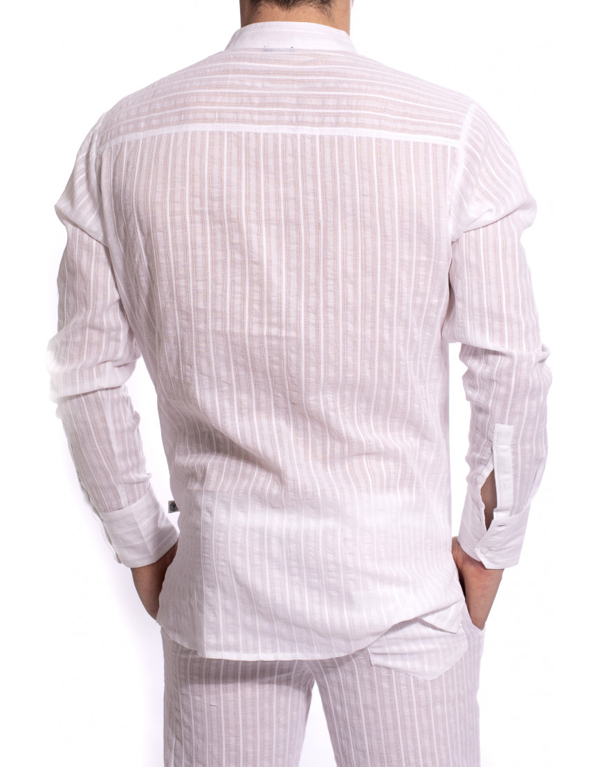 LHommeInvisible Hannover STEFANamMarstall barbados tunique homme coton blanc 5